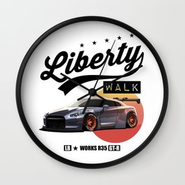 Nissan GT-R R35 Liberty Walk JDM Drift Japan Legendary Car Wall Clock