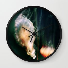 Jellyfish of the Blue-Green Electric Glow Wall Clock
