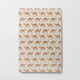 camels - caramel on beige Metal Print
