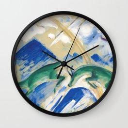 "Franz Marc ""Gemsen (Chamoises)"" Wall Clock"