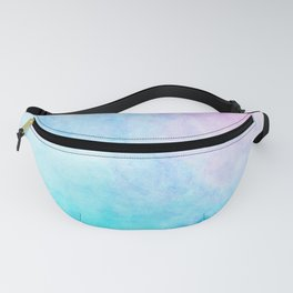 Baby Blue Pink Watercolor Texture Fanny Pack