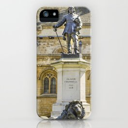 Oliver Cromwell Statue iPhone Case