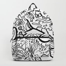Ribbons abstract Backpack