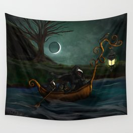 To Poveglia (The Plague Doctor) Wall Tapestry
