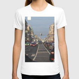 Cars traffic on Nevsky Prospect T-shirt