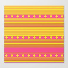 Pink and Gold Canvas Print