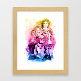 River Song/Doctor Who/Alex Kingston inspired Mixed Media Watercolor Portrait Framed Art Print