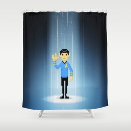 One Last Beam Up... Shower Curtain