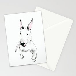 A Bull Terrier Puppy Stationery Cards