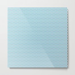 Modern blue white geometric polka dots pattern Metal Print