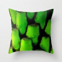 palm Throw Pillows featuring Palm by JT Digital Art