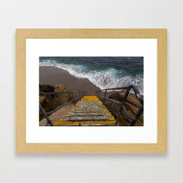 La Jolla Stairs Framed Art Print