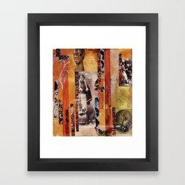 Butterfly Woman Framed Art Print