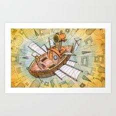 Atlantis Flying Ship #1 Art Print