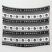 sweater Wall Tapestries featuring Ugly Sweater Society6 by Society6