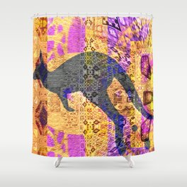 Dreamtime Kangaroo Abstract Psychedelic Shower Curtain