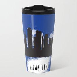 Kansas city skyline silhouette Travel Mug