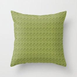Green Zig-Zag Knit Throw Pillow