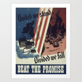 Vintage poster - United We Stand Art Print