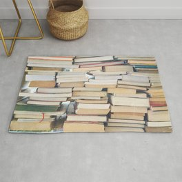Books, Pages, Stories Rug