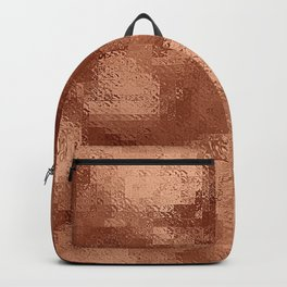 Pixillated Copper Foil Backpack