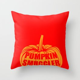 Pumpkin Smuggler Halloween Funny Scary Gift Throw Pillow