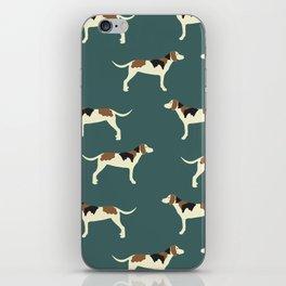 Tree Walker Coonhounds in Green iPhone Skin