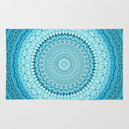Coastal Spray Mandala Rug