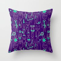 sports Throw Pillows featuring les sports by Estelle F