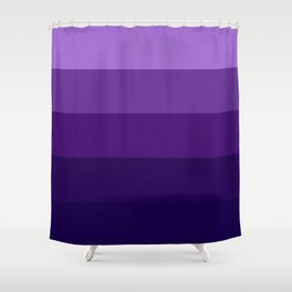 Purple Lavender Indigo Stripes Shower Curtain