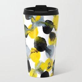 Yellow and Gray Interactions Travel Mug