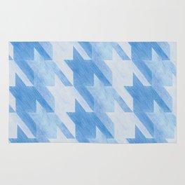Blue Monochrome Houndstooths Rug