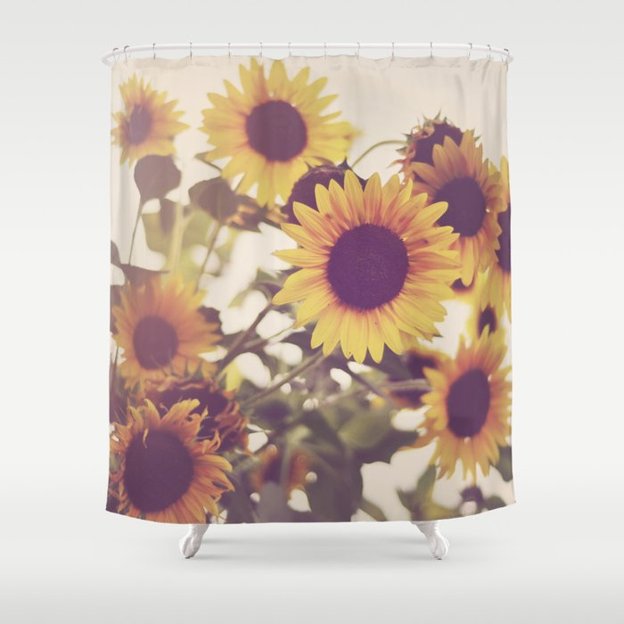 Sunflowers Shower Curtain By Ellemoss