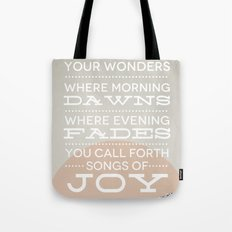 Psalm 65:8 Tote Bag