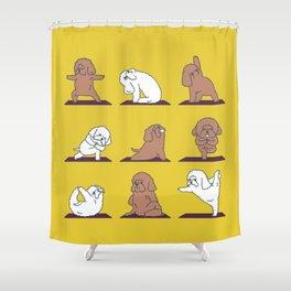 Poodle Yoga Shower Curtain