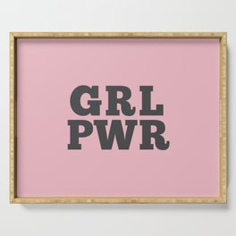 GRL PWR GIRL POWER Serving Tray