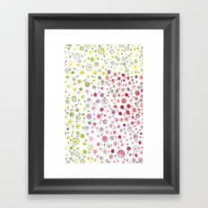 Tiny flowers Framed Art Print
