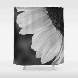 Black and White Sunflower Photography Print Shower Curtain