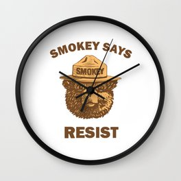 smokey says resist Wall Clock