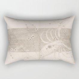 Johann Bayer - Uranometria / Measuring the Heavens (1661) - 27 Scorpio Rectangular Pillow