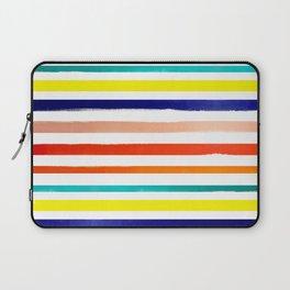 Bright Watercolor Rainbow Stripes Laptop Sleeve