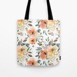 Peachy Keen Pattern Tote Bag