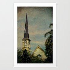 The Church & the Steeple Art Print