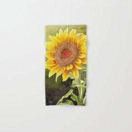 Sunflower–Watercolor Hand & Bath Towel