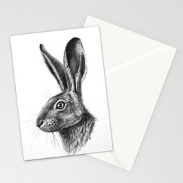 Hare profile G138 Stationery Cards