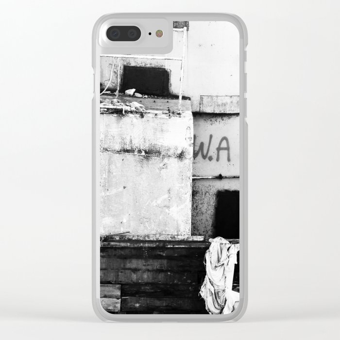 Destroyed - B/W Clear iPhone Case