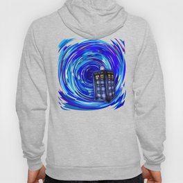 Blue Phone Box with Swirls Hoody