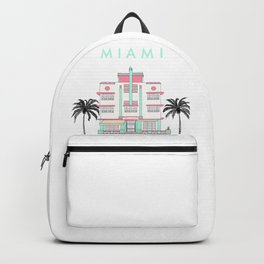 Miami Art Deco Vibes Backpack
