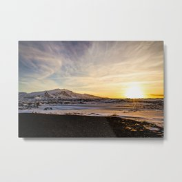 Snaefellsnes- Sunset Metal Print