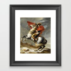 Napoleon Crossing the Alps by Jacques Louis David Framed Art Print